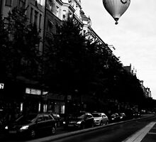 Floating by old town by Pirostitch