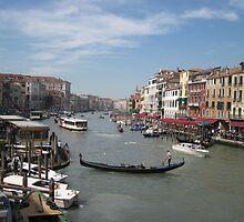 Street Scene of Venice by Linda Fury