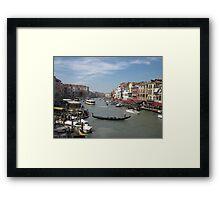 Street Scene of Venice Framed Print