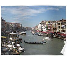 Street Scene of Venice Poster