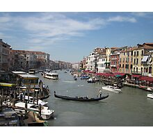 Street Scene of Venice Photographic Print