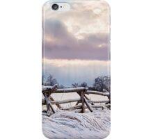 Road to Salem - Winter Landscape iPhone Case/Skin