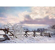 Road to Salem - Winter Landscape Photographic Print