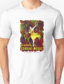 Liquer Cordial-Medoc Vintage Poster Restored Unisex T-Shirt