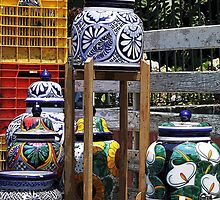 'Talavera' pots by Shirley  Poll
