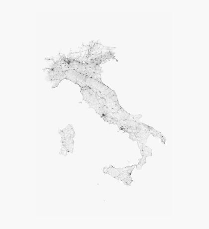Roads of Italy. (Black on white) Photographic Print