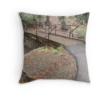 Bridge at Lynx Lake in Prescott, AZ Throw Pillow