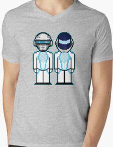 Daft Punk Derezzed Mens V-Neck T-Shirt