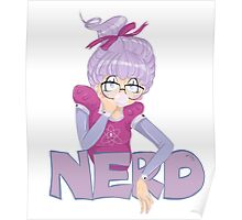 Shy Violet is a nerd Poster