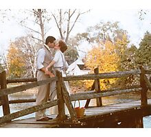 Anne and Gilbert Kiss Photographic Print