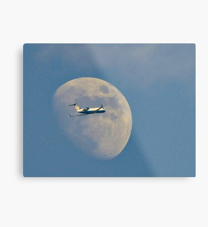 Moon Approach Metal Print