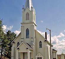 Holy Trinity Catholic Church near Rabbit Hill, Edmonton, Alberta, Canada by Adrian Paul