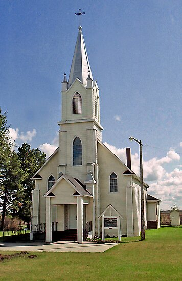 Holy Trinity Catholic Church near Rabbit Hill, Edmonton, Alberta, Canada by Adrian Paul