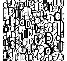 The Letter D Photographic Print