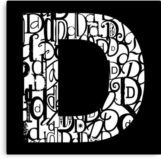 The Letter D, black background by Julie Hartman