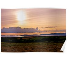 Solway Firth Sunset (Sunset on the Solway Firth) Poster