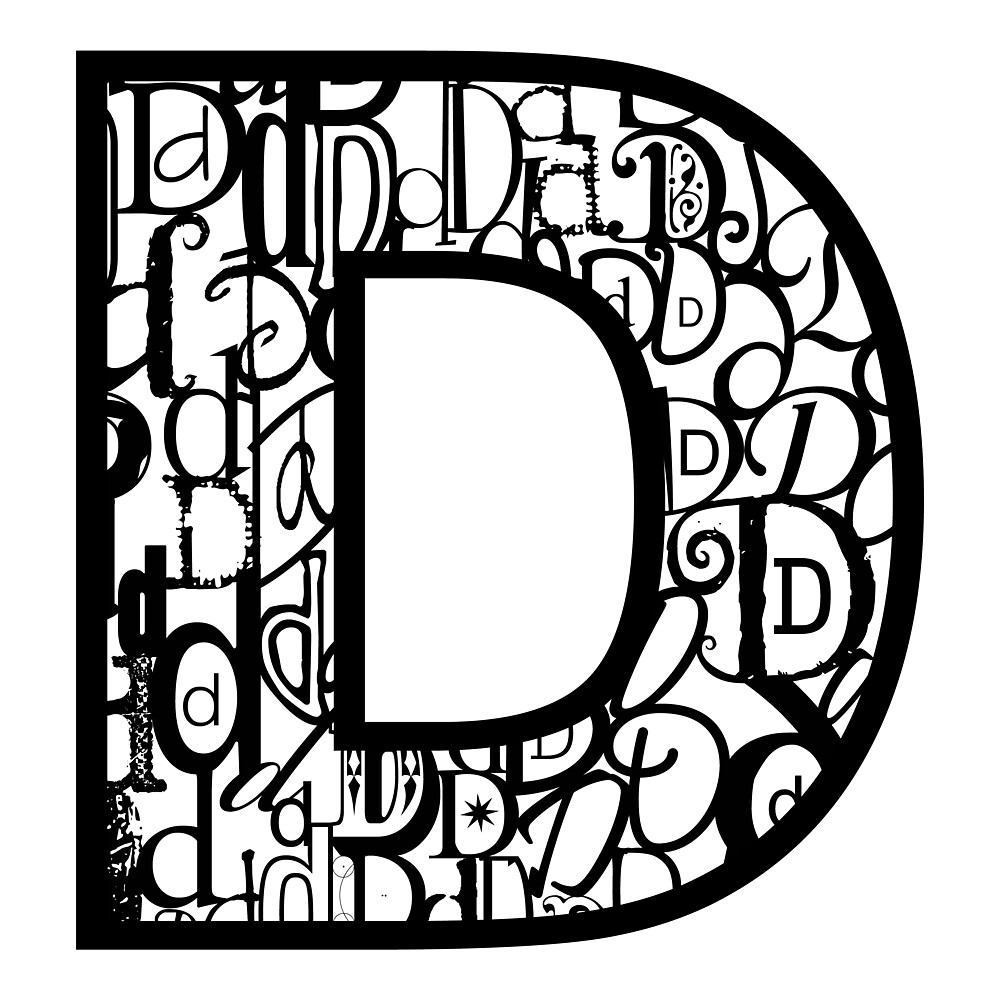 The Letter D, white background by Julie Hartman