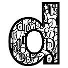 Small Letter D, white background by Julie Hartman