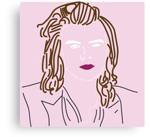 Harry Styles Outline Canvas Print