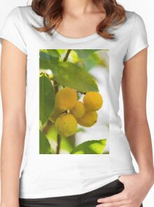 arbutus on tree Women's Fitted Scoop T-Shirt
