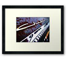 Chevrolet dash Framed Print