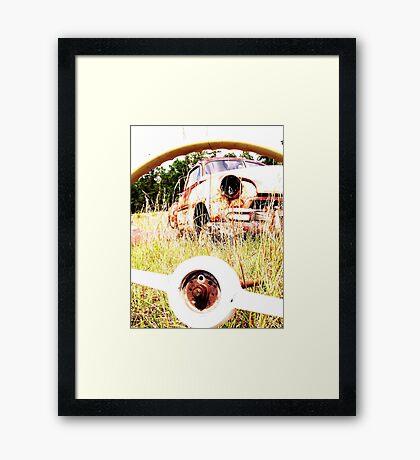 thur the wheel Framed Print