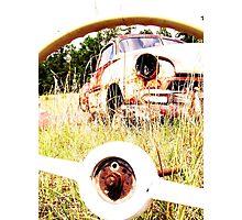 thur the wheel Photographic Print
