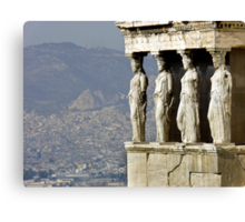 The Porch of the Caryatids of The Erechitheion Canvas Print