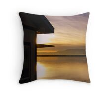 Provo Lake Sunset Shack (for Summer) Throw Pillow