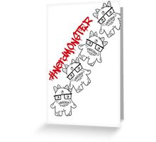 #nerdmonster Greeting Card