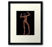 Black model Framed Print