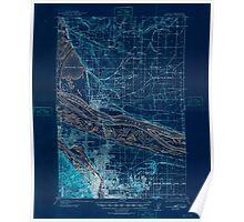USGS Topo Map Washington Portland 243246 1905 62500 Inverted Poster