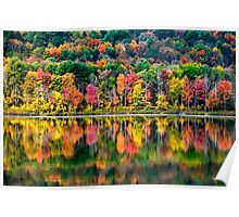 Colorful Fall Landscape Art Poster
