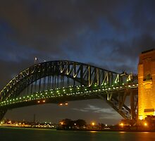Bridge by night by Linda Fury
