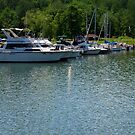 Boats In The Harbor by AuntieJ