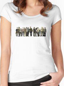 The Walking Dead Cast Women's Fitted Scoop T-Shirt