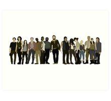 The Walking Dead Cast Art Print
