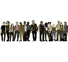 The Walking Dead Cast Photographic Print