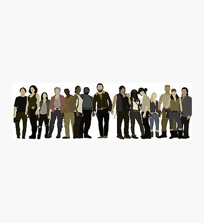 The Walking Dead Cast Photographic Print