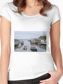 Ballintoy Harbour Women's Fitted Scoop T-Shirt