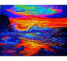 Glass Wave Sunset Photographic Print