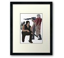Carol Peletier and Daryl Dixon (Version 2) - The Walking Dead Framed Print