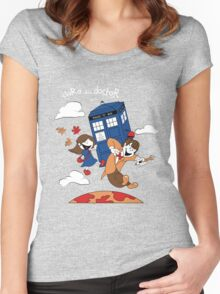 Clara and Doctor Women's Fitted Scoop T-Shirt