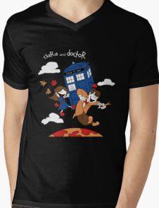 Clara and Doctor Mens V-Neck T-Shirt