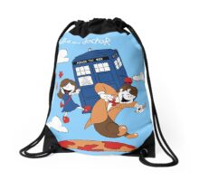 Clara and Doctor Drawstring Bag