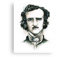 Edgar Allan Poe and Ravens Canvas Print