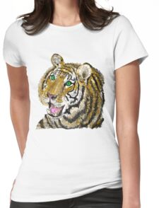 tiger tiger Womens Fitted T-Shirt