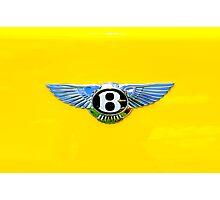 Bentley Logo on Yellow Photographic Print