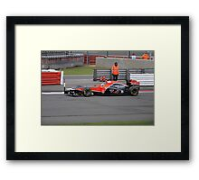 Timo Glock - Marussia Virgin Racing 24 Framed Print