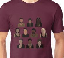 The Walking Dead Cast - Minimalist style Unisex T-Shirt